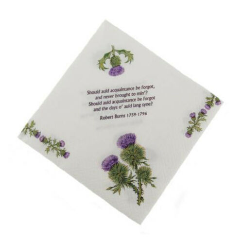 Pack of 20 New Party Burns Night Paper Napkins Serviettes Range of Designs