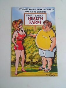 Image of: Cartoon Image Is Loading Retrorisquepcbamforthcomicseries2064health Facebook Retro Risque Pc Bamforth Comic Series 2064 Health Farm Humour a570