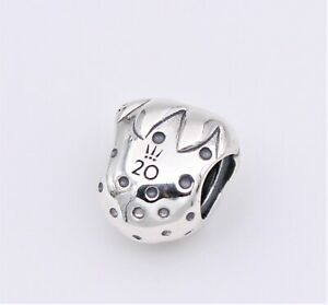 Details about New! 2020 Authentic PANDORA 20th Anniversary Strawberry  Silver Charm #798952C00