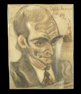 Drawing-Portrait-Allow-Waterloo-than-Pastel-Charcoal-C-1940-Caricature