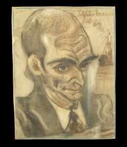 Dessin Portrait Ttré Waterloo Que Pastel Fusain C 1940 Caricature E2ybosq6-10103645-296219323