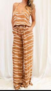 Ginger Authentic Karina Grimaldi Nwt Jumpsuit Silk Xs Sz TBTvqIw
