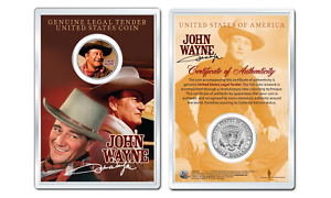 JOHN-WAYNE-Chisum-OFFICIAL-JFK-Half-Dollar-U-S-Coin-in-PREMIUM-HOLDER