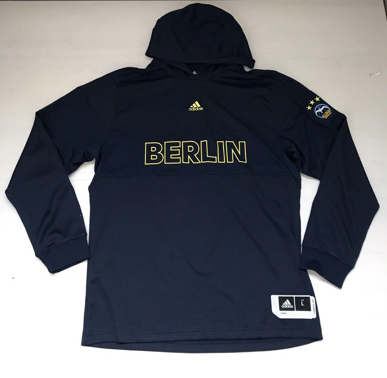 3471 ADIDAS BERLIN FELPA CAPPUCCIO HOODED HOOD SWEAT hombres MAN TOP BASKET AO4401