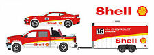 GREENLIGHT 2015 CHEVROLET SILVERADO & 2006 CAMARO W/ CAR HAULER 1/64  51061 B