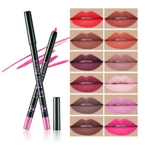 12-Couleurs-Crayon-a-Levres-Waterproof-Maquillage-Beaute-Mate-Cosmetique