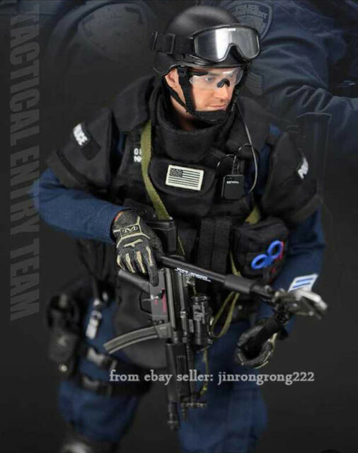 Police ESU Entry Unit Entry Tools /& Carrier 1//6 Scale Soldier Story Figures