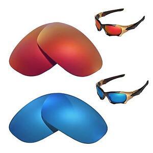 e760c81f6e New Walleva Polarized Fire Red+Ice Blue Replacement Lenses 4 Oakley ...