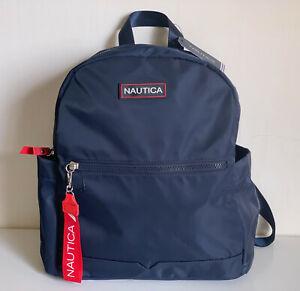 NEW-NAUTICA-DIVER-INDIGO-BLUE-NYLON-BACKPACK-BAG-99-SALE