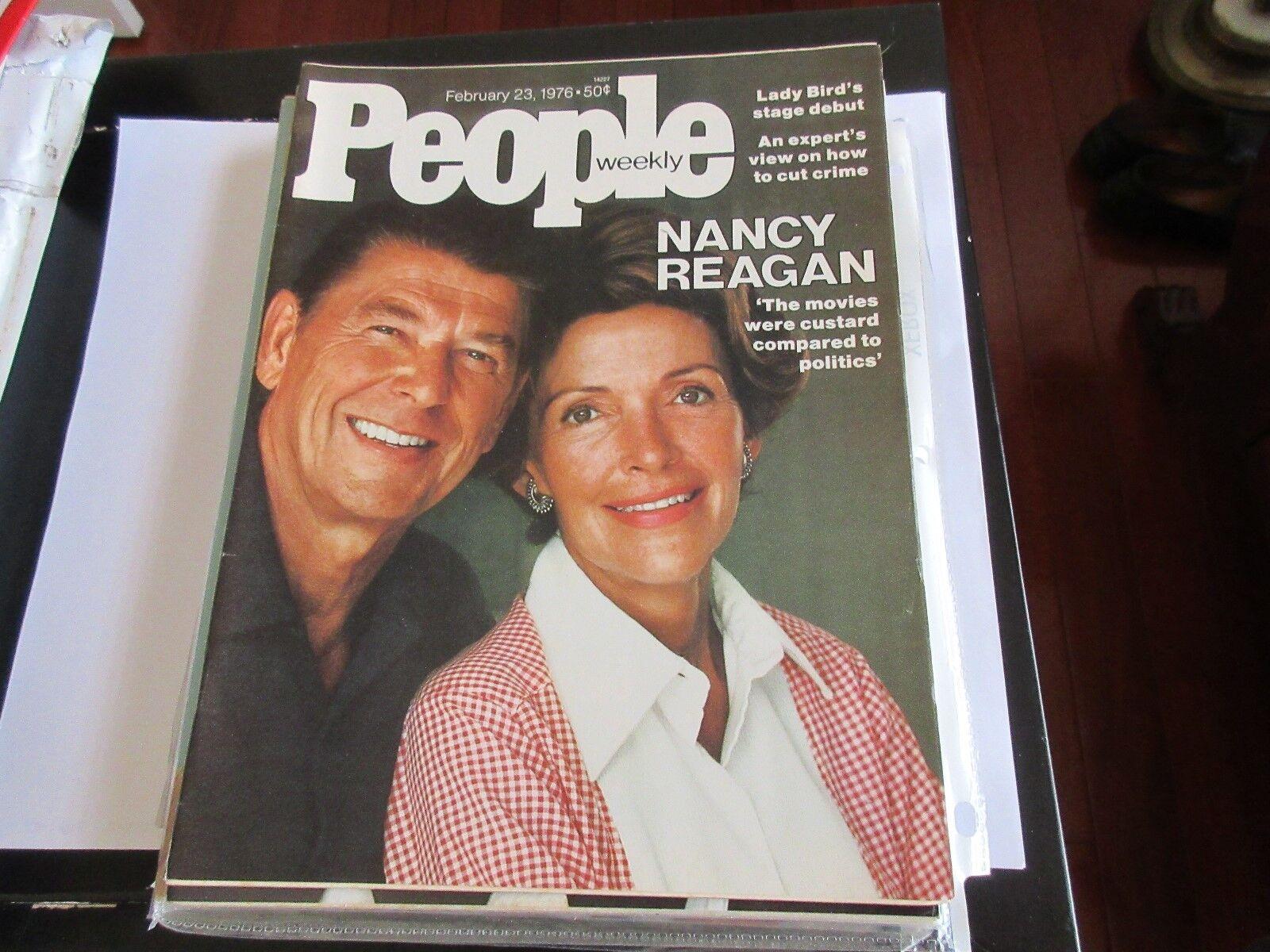 Nancy Reagan , People Magazine , 2/23/76 , Lady Bird ,