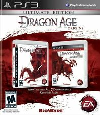 Dragon age: origins ultimate edition playstation 3 box art cover.