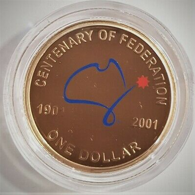 1 x 2001 $1 Federation uncirculated protected in USA capsule