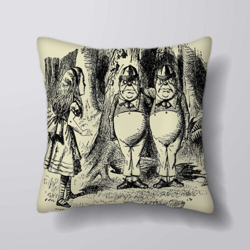 alice in wonderland tweedle dee Cushion Covers Pillow Cases Home Decor or Inner