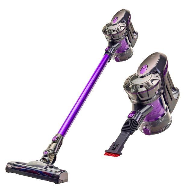 vytronix bcs01 22 2v lightweight 3 in 1 cordless upright handheld vacuum grey purple for sale. Black Bedroom Furniture Sets. Home Design Ideas