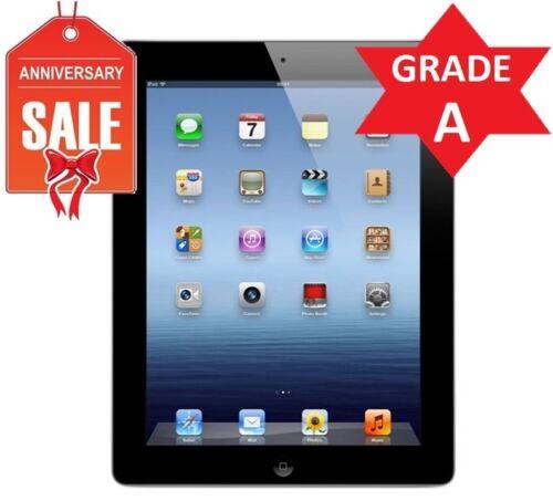 R Unlocked Apple iPad 4th Gen 64GB GRADE A Black 9.7in Wi-Fi 4G AT/&T