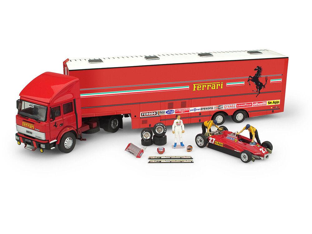 1 43 Brumm Iveco 190 Ferrari 126 C2 1982 Gilles Villeneuve Transporter Set TS05