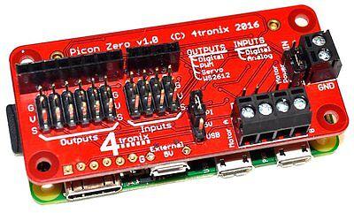 4tronix Picon Zero - Intelligent Robotics Controller for Raspberry Pi