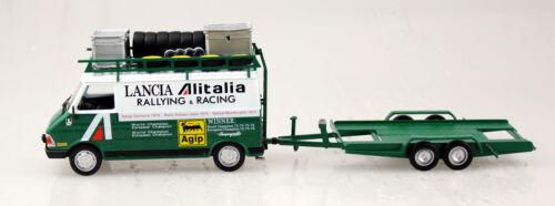 Fiat 242 Lancia alitalia rally y colgante 1:43 Ixo//Altaya maqueta de coche