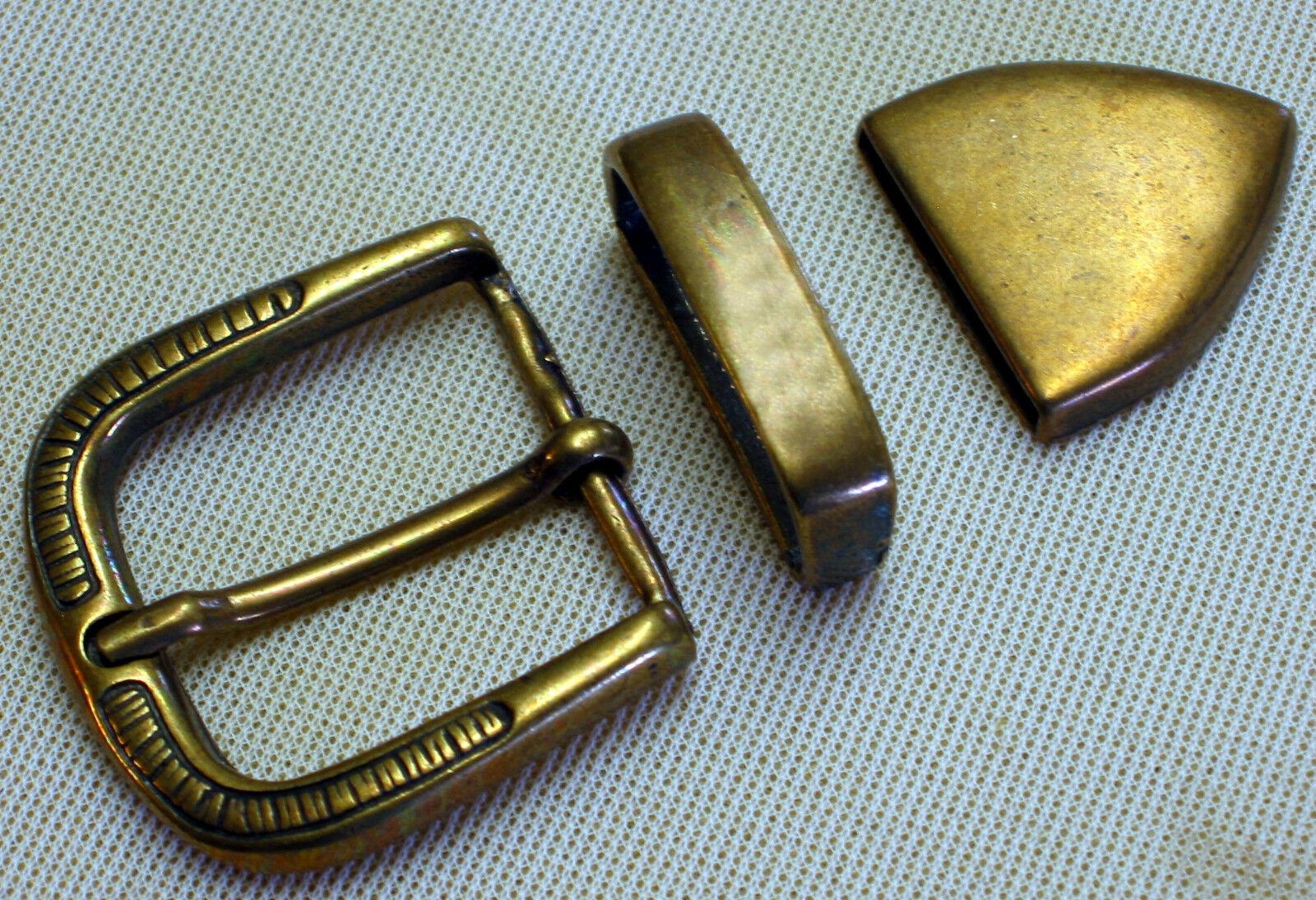 Adorno en la cintura nuevo para ancho 3cm m. correa de + punta color metal altmessing #