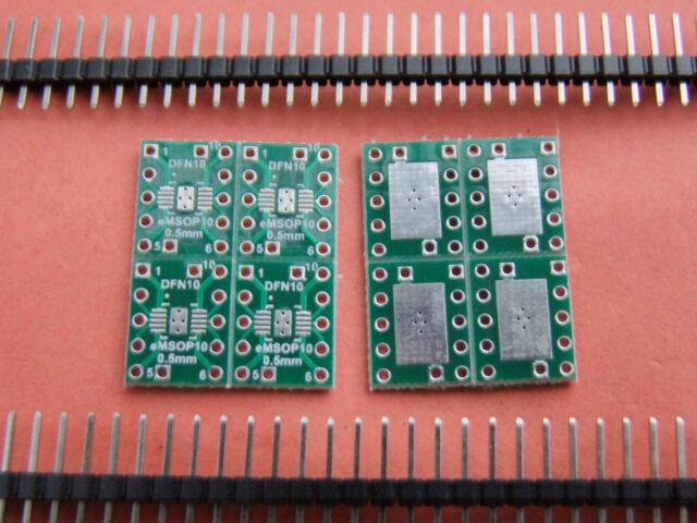 8 Pieces 0.5mm to 2.54mm DFN10 eMSOP10 to DIP Adapter SMD convert