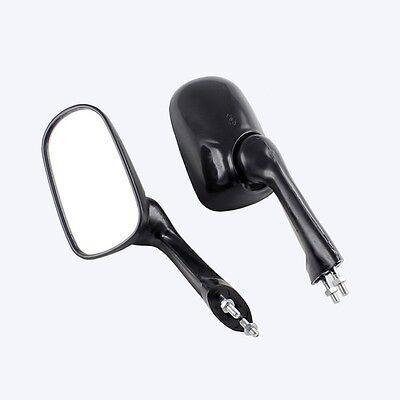 New Black Motorcycle Side Rearview Mirrors for Honda NSR250 CBR250 CBR400 VFR