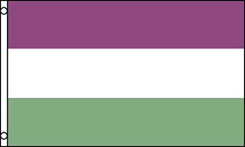 GENDERQUEER FLAG 5' x 3' Gender Queer Rainbow Gay Pride Festival Flags