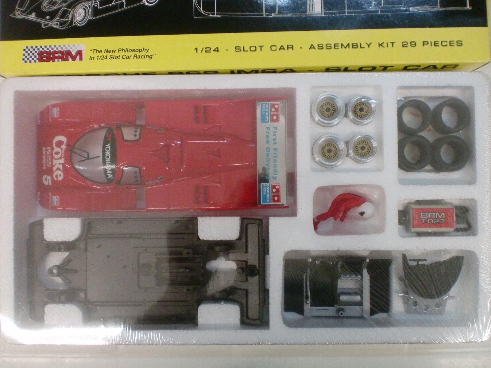 BRM 1 24 - SLOT CAR - KIT PORSCHE 962 IMSA COKE N° 5 - DA PISTA