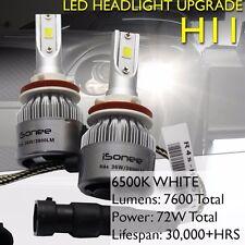 6000K Xenon White R4 COB LED Headlight Conversion Kit 36W 3800Lm Bulbs H11