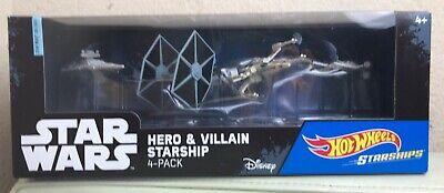 HOTWHEELS STAR WARS VILLAIN STARSHIP 4-PACK HOT WHEELS DIECAST BRAND NEW!