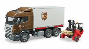 Bruder-03581-UPS-Scania-Container-Wechselbruecke-Mitnahmestapler-Bworld