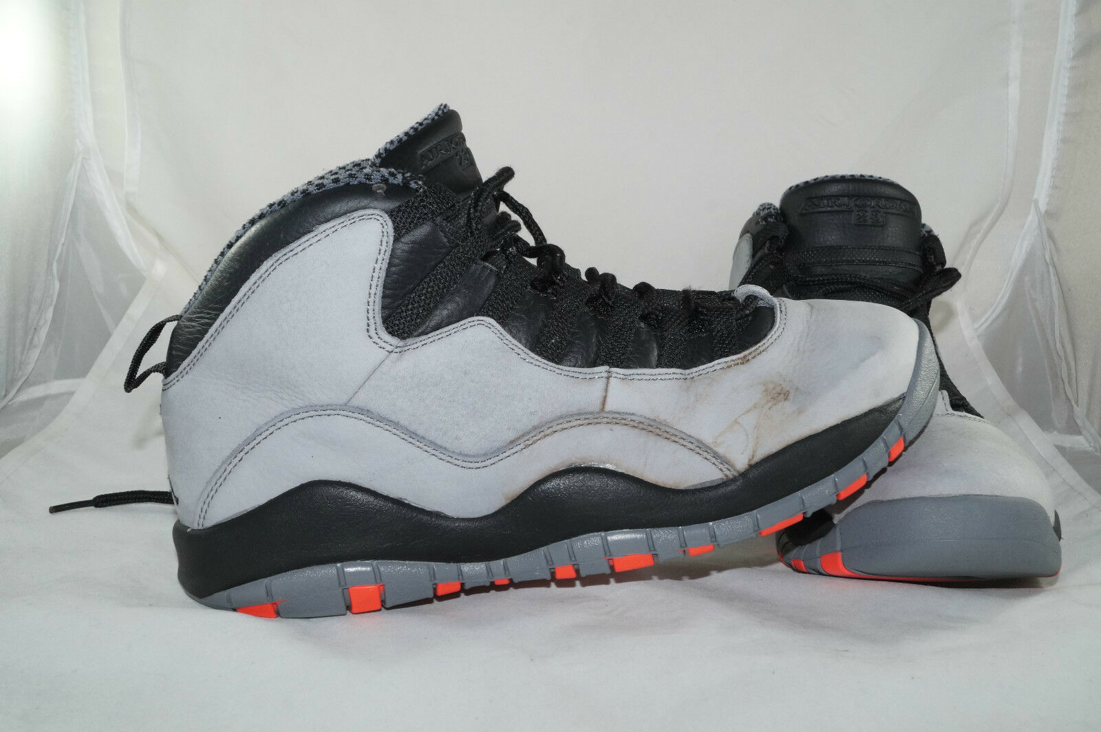 Nike Air Jordan Retro 10 X Cool Grey Gr: 42,5 Grau Basketball High Tops