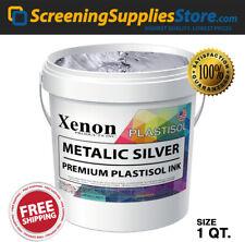 Xenon Metallic Silver Plastisol Ink For Screen Printing 1 Quart 32oz