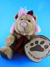 "Coffee Bean Teddy Bears Plush Hazel The Nut 7"" sitting size Hard to Find W  tag"