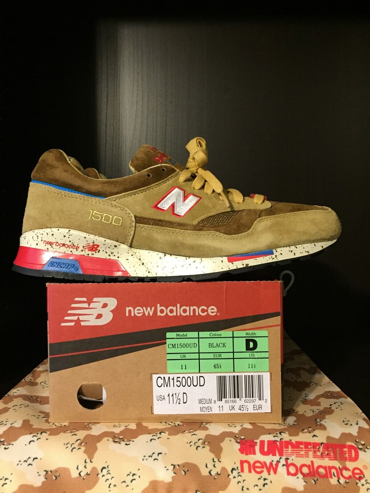 Undefeated (Undftd) x New Balance 1500 -  Desert Storm  - RARE Size 11.5