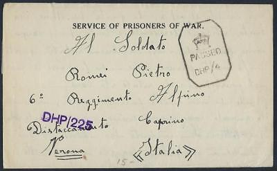 Indien Indischem Italien 1942 Bombay Wwii Gefangene Of War Camp No 14 Brief Vom Pri Briefmarken