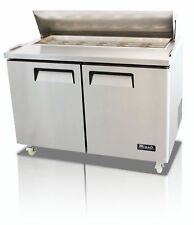 Migali CSP Inch Door Salad Sandwich Prep Table Cooler EBay - Sandwich prep table cooler