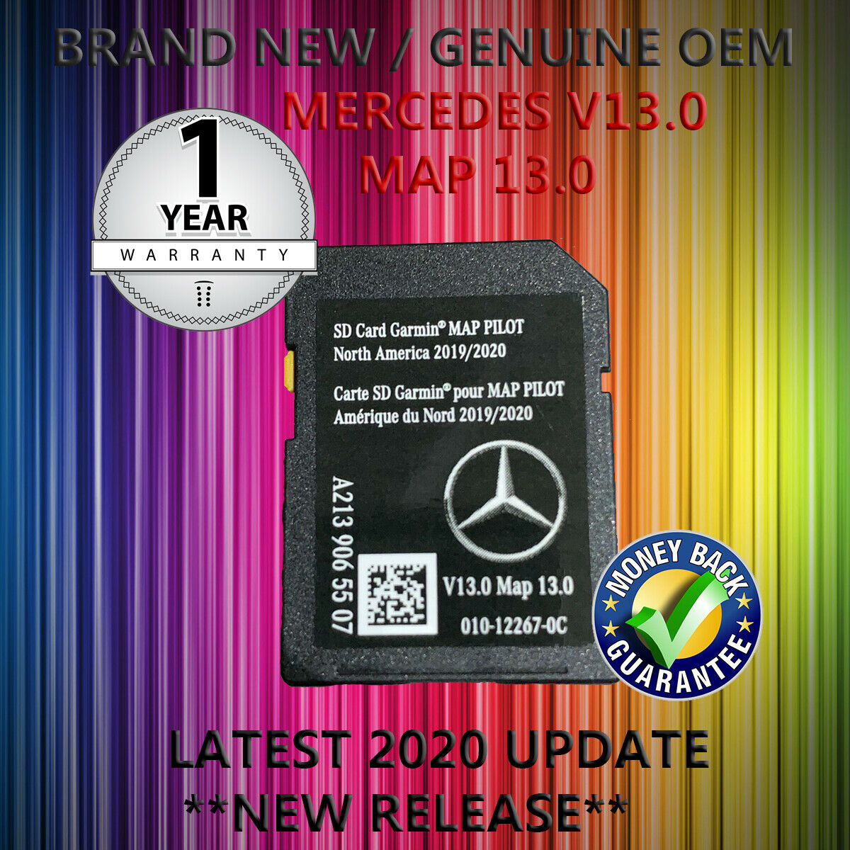 2020 V13 Mercedes GARMIN MAP PILOT SD CARD SAT NAV A B CLA E GLS GLA GLE,GL,M