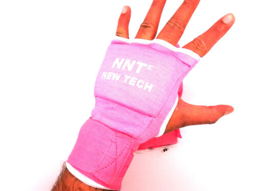 NNT PINK PADDED INNER HAND WRAPS BOXING FIST BANDAGES MMA TRAINING