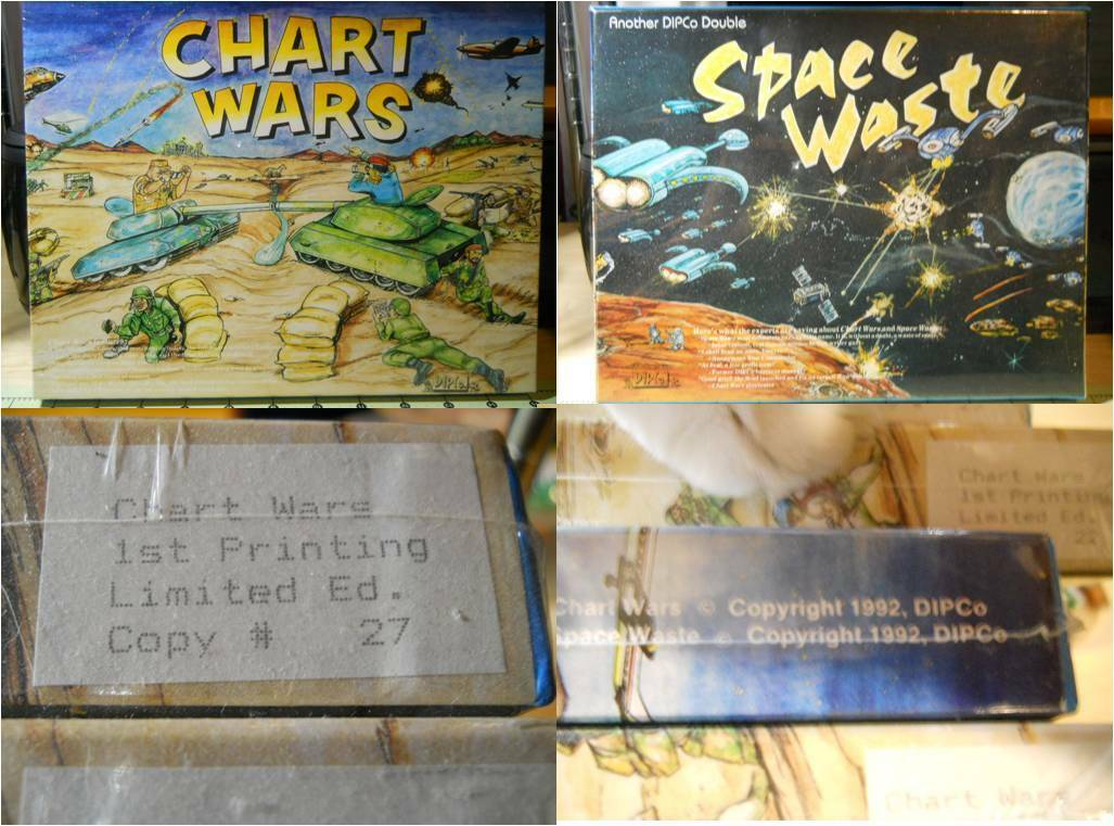 Chart Wars Space Waste Board Game Factory Sealed 1992 Limited Edition  27 War