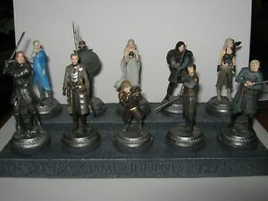 Game Of Thrones Eaglemoss Collection de figurines Hbo 10 et support pour socle