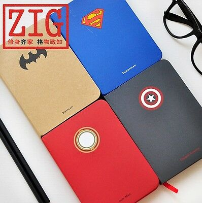 "Super Heros sketchbook Justice League Journal notebook 4.1"" x 5.7"" 128 Sheets"