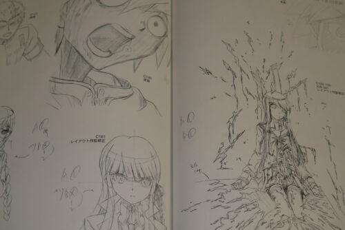 JAPAN Danganronpa The Animation Art book  Koushiki Illustration /& Gengashuu