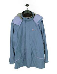 Berghaus Gore-Tex à Capuche Bleu Femme Veste Taille 16