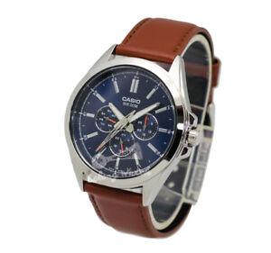 Casio-MTPSW300L-2A-Men-039-s-Strap-Fashion-Watch-Brand-New-amp-100-Authentic
