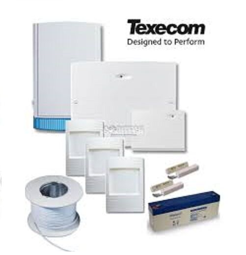 Texecom Veritas R8 Completo Con Cable Kit Alarma Antirrobo KIT-0037 + Batería Y Cable
