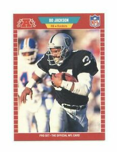 1989-Pro-Set-185-Bo-Jackson-Los-Angeles-Raiders-1st-Year-Pro-Set-Card