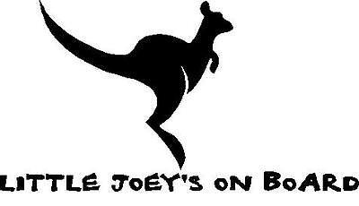 LITTLE JOEY'S ON BOARD CAR DECAL STICKER