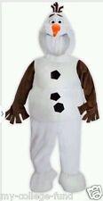 Authentic Disney Store Frozen Olaf Plush Snowman Hallowween Costume Kids 5/6 NEW