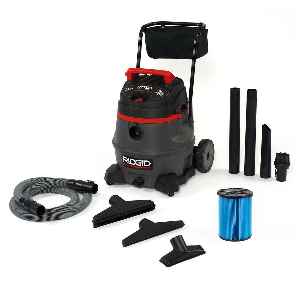 RIDGID Wet Dry Vacuum 14 Gal 2-Stage Quiet Operation Noise Reduction Technology