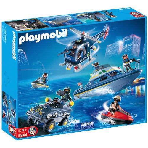Playmobil 5844 mega swat Police Rescue Set bnib retirot